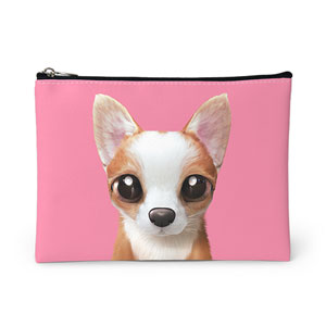Rico the Welsh Corgi Leather Pouch