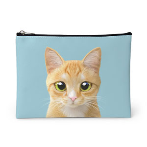 Roy the Cheese Tabby Leather Pouch