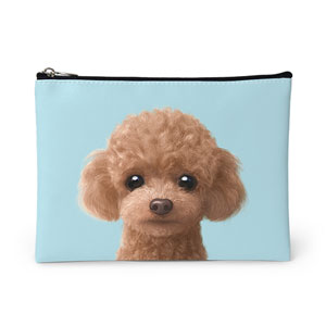 Ruffy the Poodle Leather Pouch
