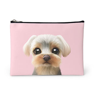 Sarang the Yorkshire Terrier Leather Pouch