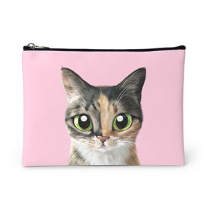 SungYueng the cat Leather Pouch
