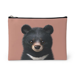 Bandal the Aisan Black Bear Leather Pouch