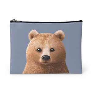 Brownie the Bear Leather Pouch
