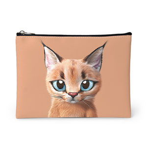 Cali the Caracal Leather Pouch