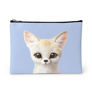 Denny the Fennec fox Leather Pouch