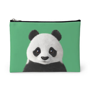 Pang the Giant Panda Leather Pouch