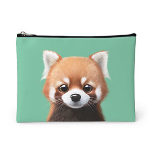 Radi the Lesser Panda Leather Pouch