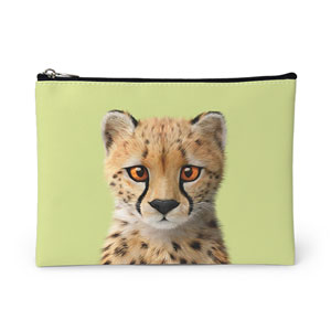 Samantha the Cheetah Leather Pouch