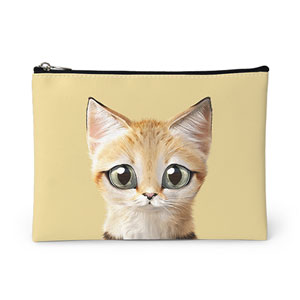 Sandy the Sand cat Leather Pouch