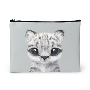 Yungki the Snow Leopard Leather Pouch