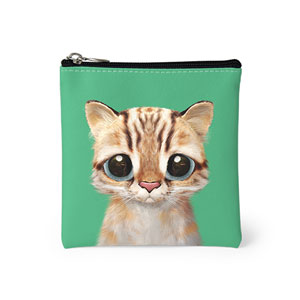 Leo the Leopard cat Mini Pouch