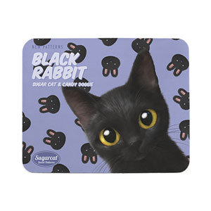 Bingo's Black Rabbit New Patterns Mouse Pad