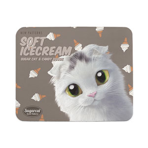 Byeoli's Soft Icecream New Patterns Mouse Pad