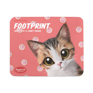 Ddakzi the Kitten's Footprint Cookies New Patterns Mouse Pad