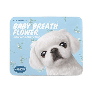 Happy's Baby Breath Flower New Patterns Mouse Pad