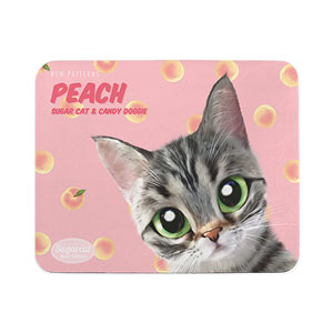 Momo the American shorthair cat's Peach New Patterns Mouse Pad