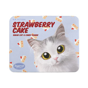 Rangi the Norwegian forest's Strawberry Cake New Patterns Mouse Pad