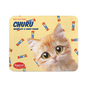 Raon the Kitten's Churu New Patterns Mouse Pad