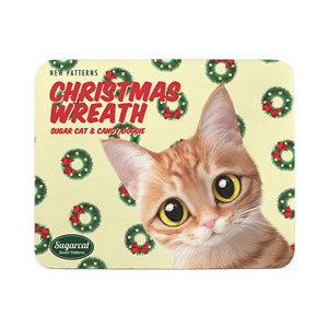 Ssol's Christmas Wreath New Patterns Mouse Pad
