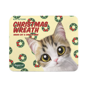 Yeona's Christmas Wreath New Patterns Mouse Pad