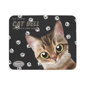 Wellbeing's Cat Bell New Patterns Mouse Pad