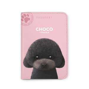Choco the Black Poodle Passport Case