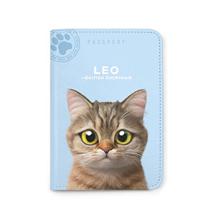 Leo the British Shorthair Passport Case