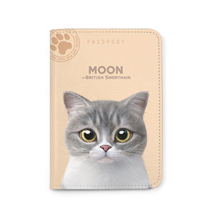 Moon the British Cat Passport Case