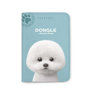 Dongle the Bichon Passport Case