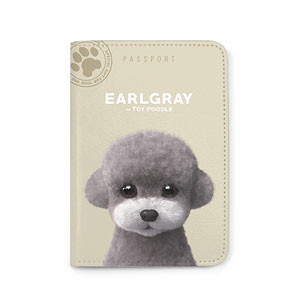 Earlgray the Poodle Passport Case