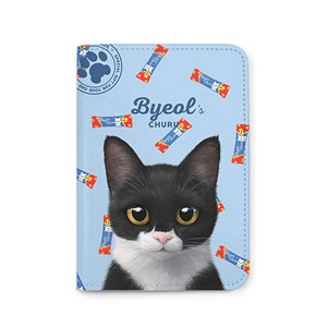 Byeol the Tuxedo Cat's Churu Passport Case