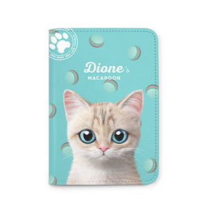 Dione's Macaroon Passport Case