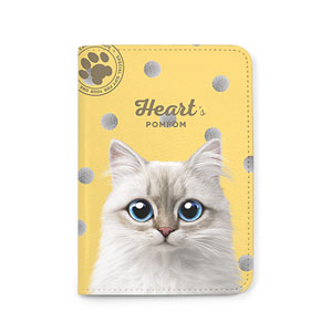 Heart's Pompom Passport Case
