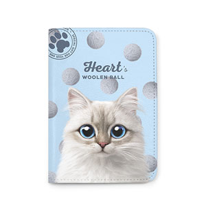 Heart's Woolen Ball Passport Case