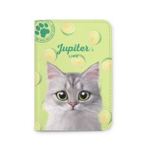 Jupiter's Lime Passport Case