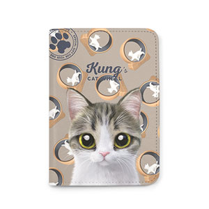 Kung's Cat Wheel Passport Case