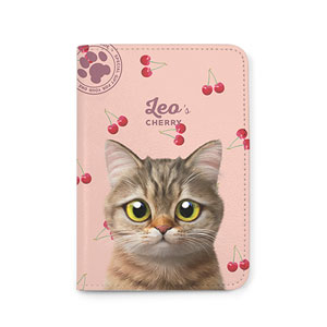 Leo the British Shorthair's Cherry Passport Case