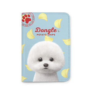 Dongle the Bichon's Potato Chips Passport Case