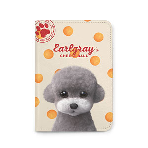 Earlgray the Poodle's Cheese Ball Passport Case