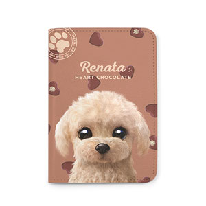 Renata the Poodle's Heart Chocolate Passport Case