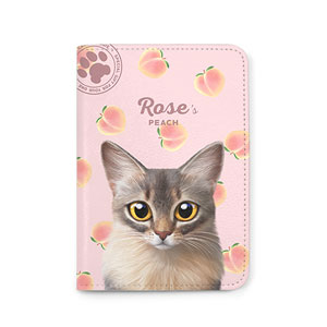 Rose's Peach Passport Case
