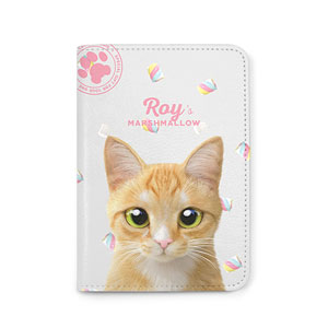 Roy the Cheese Tabby's Marshmallow Passport Case