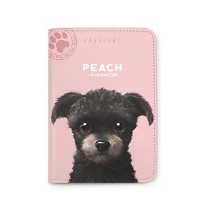 Peach the Schnauzer Passport Case