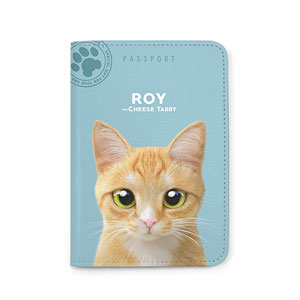 Roy the Cheese Tabby Passport Case