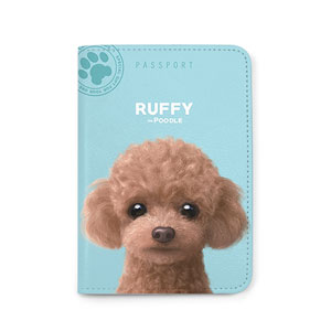 Ruffy the Poodle Passport Case