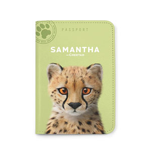 Samantha the Cheetah Passport Case