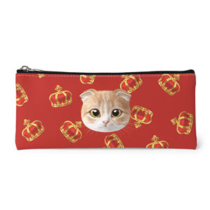 Mumu's Crown Face Leather Pencilcase