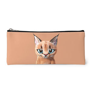 Cali the Caracal Leather Pencilcase