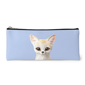 Denny the Fennec fox Leather Pencilcase