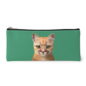 Porong the Puma Leather Pencilcase